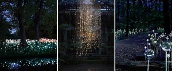 Longwood Gardens: Bruce Munro Lighting Install