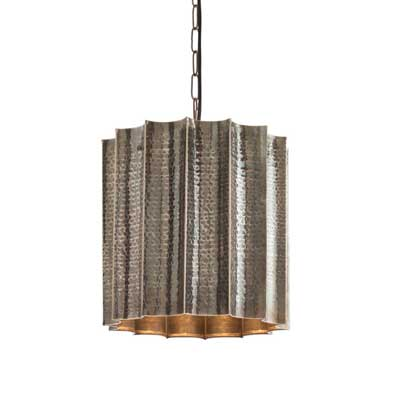 Arteriors Home Waverly Scalloped Hammered Metal Pendant