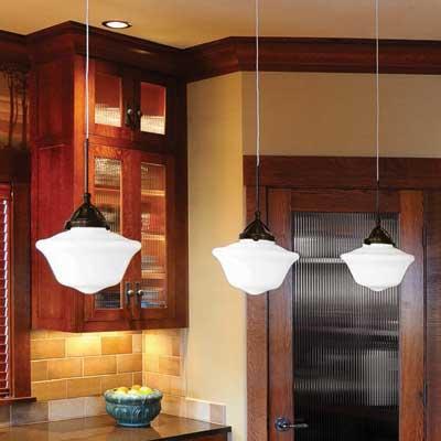 WAC Lighting: LED glass pendants