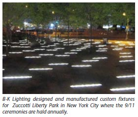 B-K Lighting Zuccotti Liberty Park