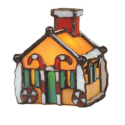 "4.5""-high Gingerbread House accent lamp"