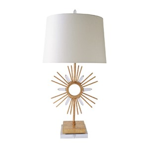 "Las Vegas Market 2014 - Glided Nola 28""-high Sun King Table Lamp"