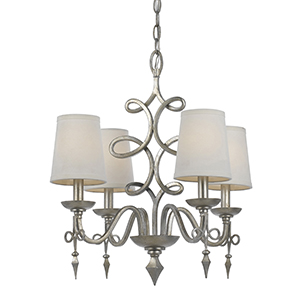 the flowing lines of the rhythm chandelier by candice olson for af lighting is enhanced by the handapplied glint finish