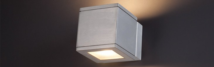 WAC Lighting:  Rubix Indoor/Outdoor LED Wall Sconce