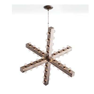 Arteriors six-arm Harding chandelier
