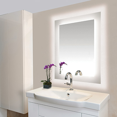 Edge Lighting: ADA Bathroom Light