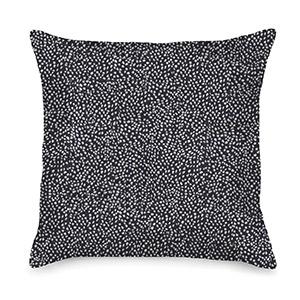 Waggo Home: The black Dot Knot throw pillow