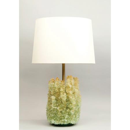 Kristine Daniels-handcrafting glass table lamp