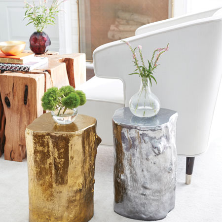 Phillips Collection-Gold Log Stools