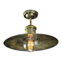 Edison Large flush ceiling light