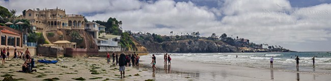 Image: People spending a day at the Beach, La Jolla Shores, San Diego County coast, California