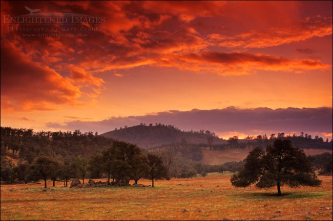Image: Sunset in the Sierra Foothills near Chinese Camp, California
