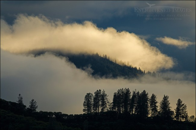 Image: Clearing storm clouds in morning light, Whiskeytown National Recreation Area, Shasta-Trinity National Forest, Shasta County, California