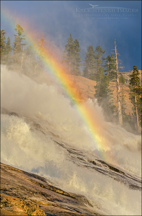 Image: Waterwheels and rainbow in LeConte Falls, Tuolumne River, Yosemite National Park, California