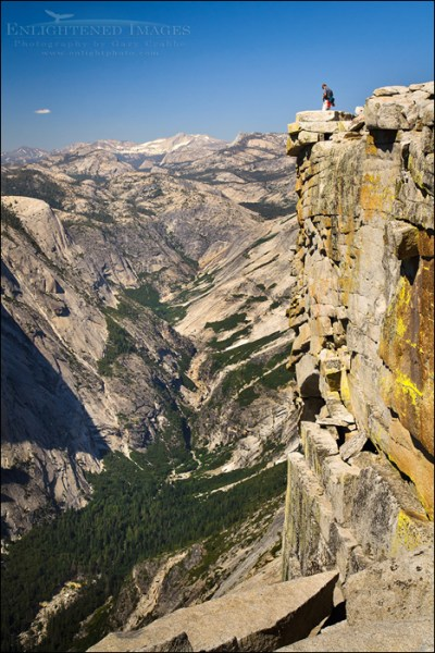 Image: Hikers on the summit of Half Dome, Yosemite National Park, California