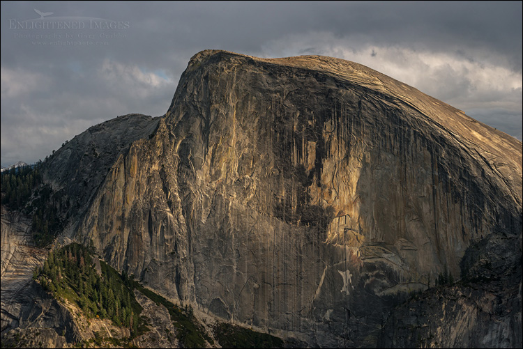 Image: Half Dome, as seen from North Dome, Yosemite National Park, California
