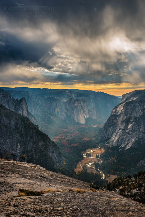 Image: Clouds over Yosemite Valley from North Dome, Yosemite National Park, California