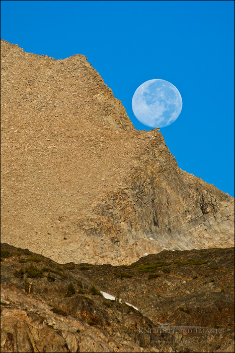 Image: Moonset over the Sierra Crest, near Tioga Pass, Mono County, Eastern Sierra, California