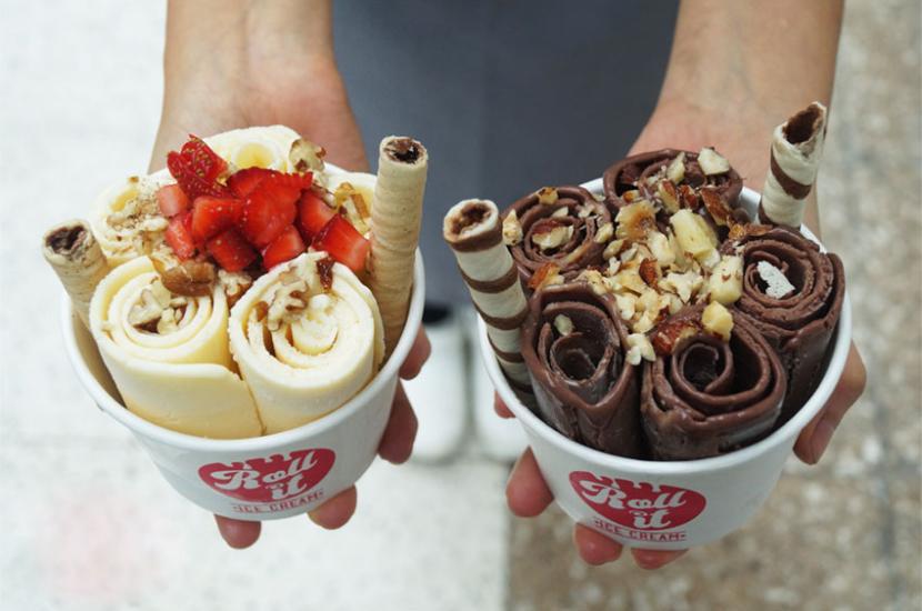 Rollos Rolled Ice Cream