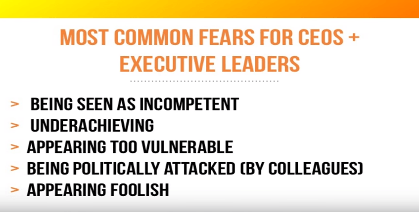 CEOs and execs' most common fears
