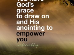 Grace and anointing