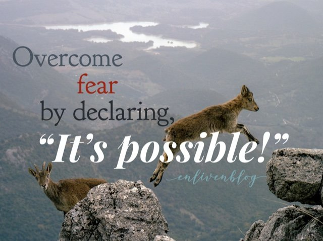 "Overcome fear by declaring, ""It's possible!"""