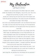 Psalm 91 Declaration