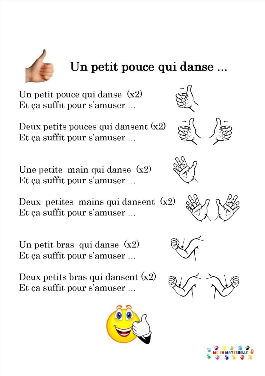 Un petit pouce qui danse mc en maternelle - Petite souris qui danse ...