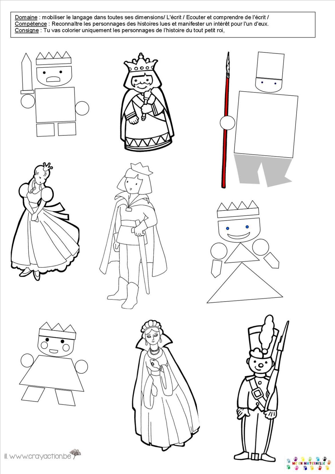 Les rois et les reines page 2 mc en maternelle - Coloriage tout petit ...