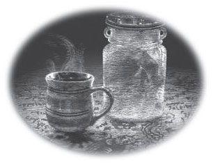 Reseña de Agencia Lockwood: taza de té y calavera en jarra de cristal