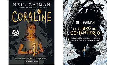 Book tag de despedida del 2018: Coraline (novela gráfica) y El libro del cementerio (novela gráfica)