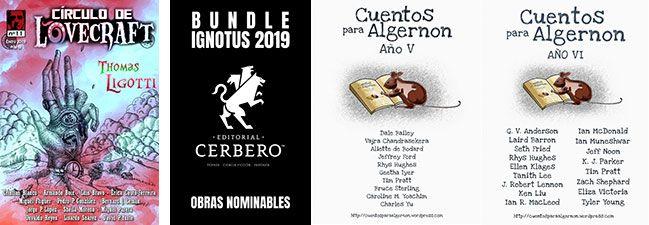 Book haul & Wrap up de marzo y abril 2019: revista 'Círculo de Lovecraft', bundle de publicaciones del 2018 de Cerbero y antologías V y VI de 'Cuentos para Algernon'