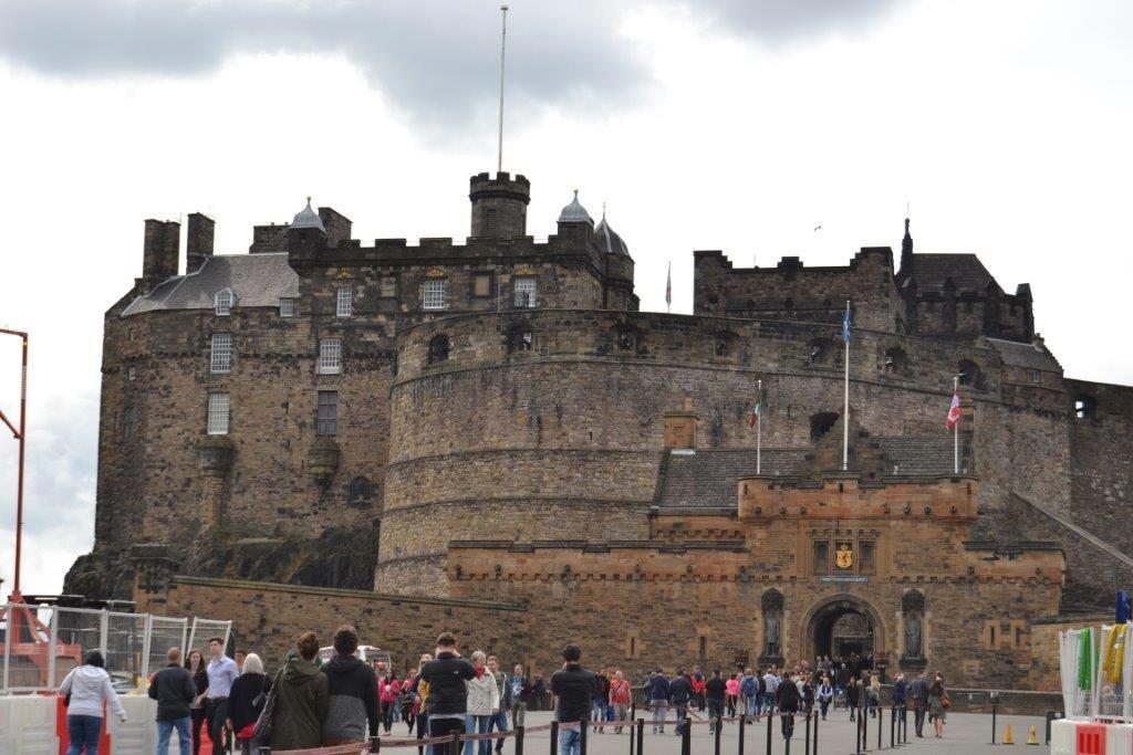 Mes vacances en Ecosse visite chateau Edimbourg