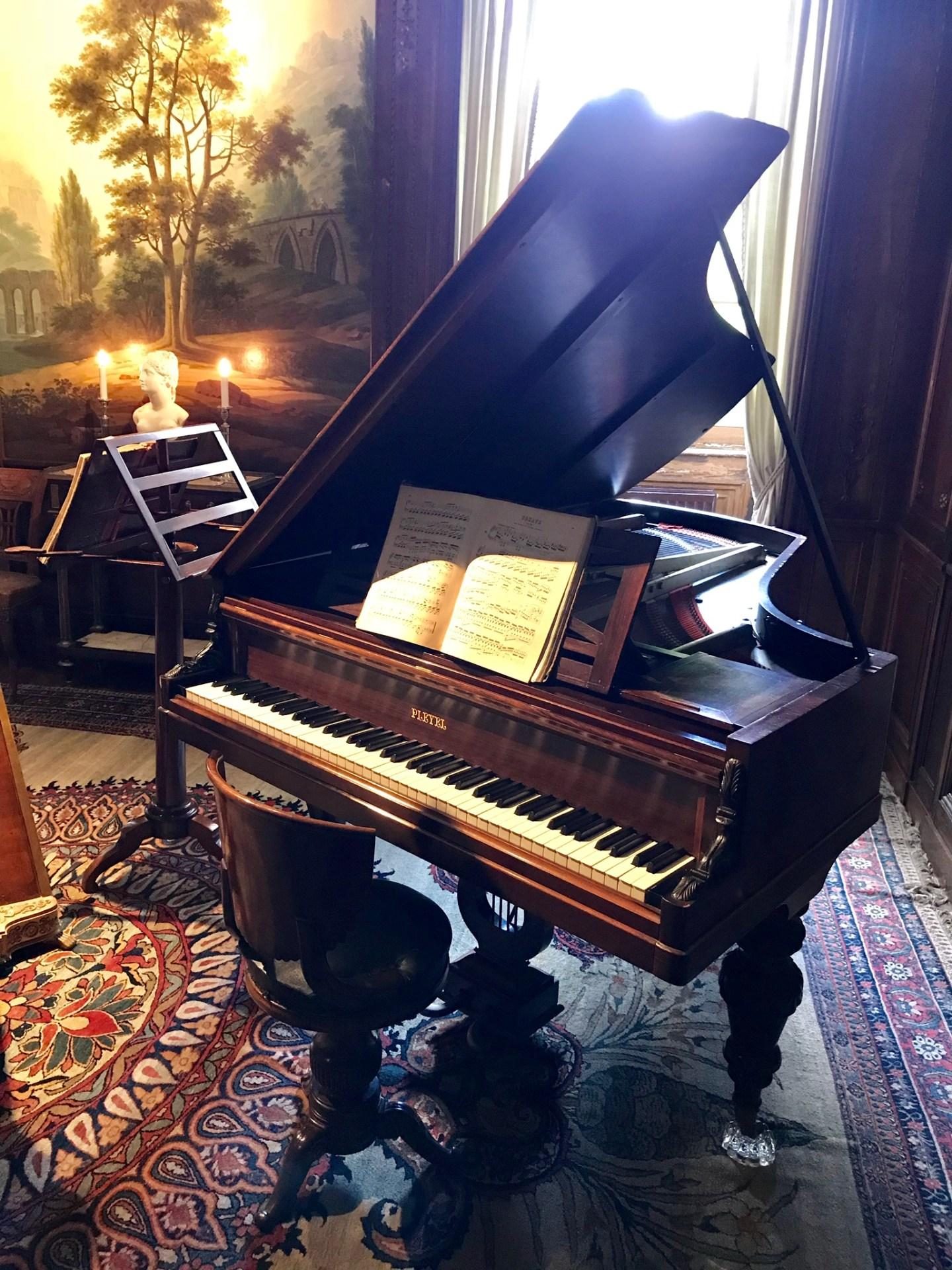 château de Laàs musée Serbat salon de musique