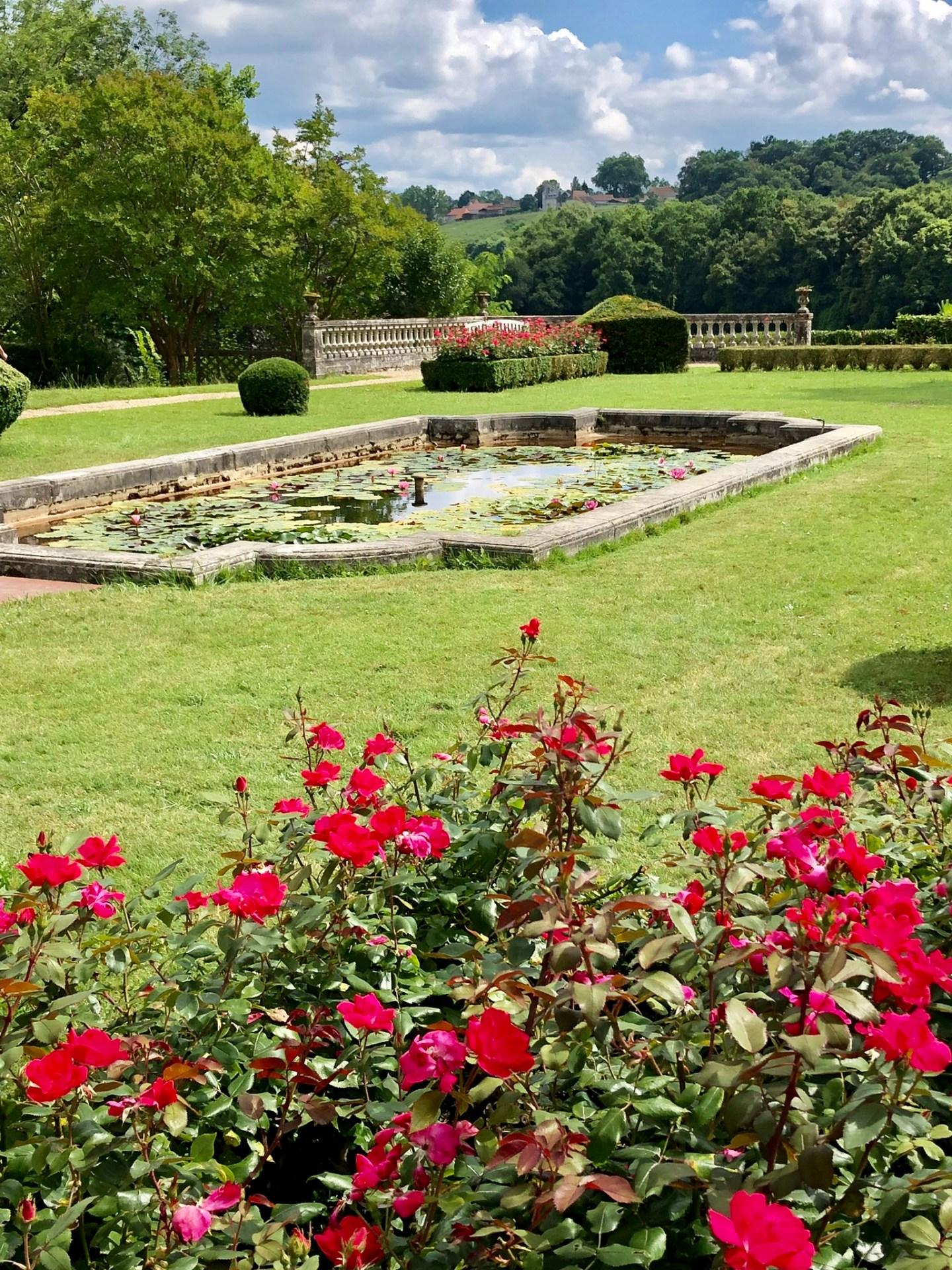 Château de laàs jardin
