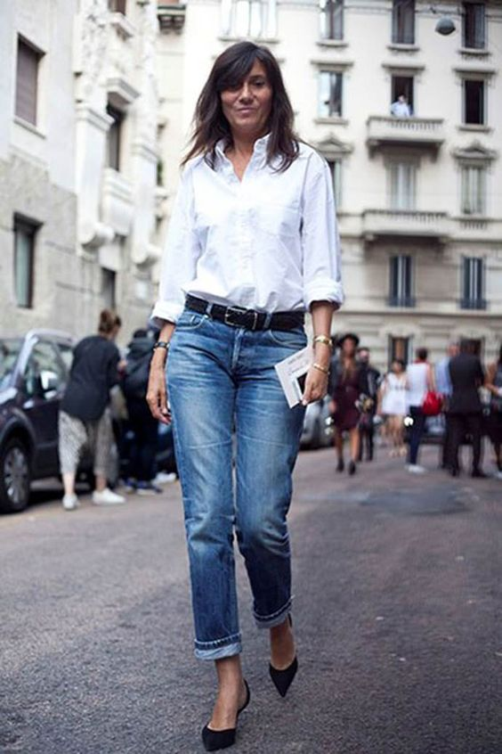élégante et stylée en jean