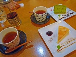 シフォンケーキ(抹茶)&チーズケーキ