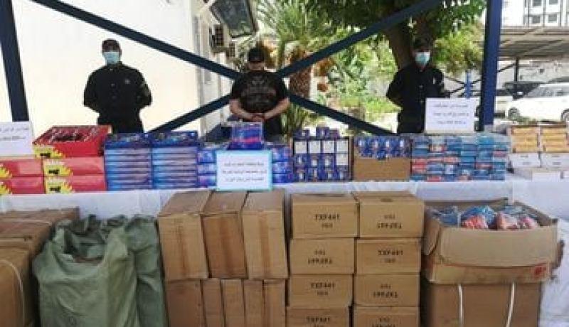 أمن العاصمة: حجز أكثر من 747 ألف وحدة من الألعاب النارية