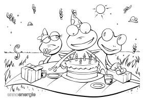 Geburtstag ausmalbild – Herzlichen Glückwunsch an die Lieben