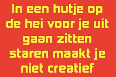 Over hoe creativiteit hard werken is