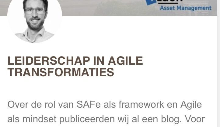 Over leiderschap in Agile transformaties