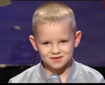 Un garçon de 7 ans d'Ukraine a ébloui tout le monde