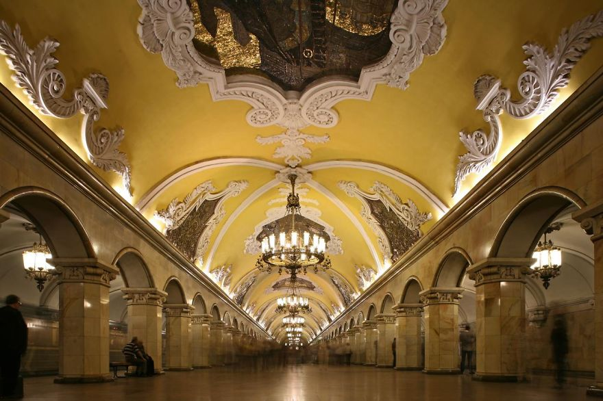 La station de métro Avtovo, Saint-Pétersbourg, Russie