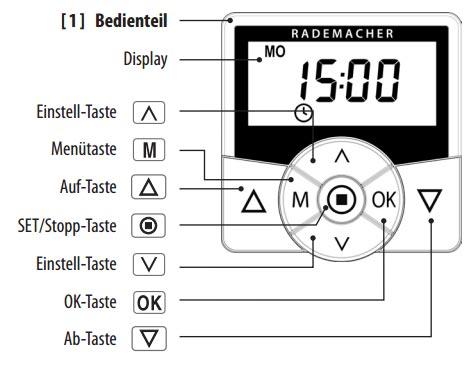 Rademacher Zeitschaltuhr Troll Comfort 3D (3-Drahttechnik