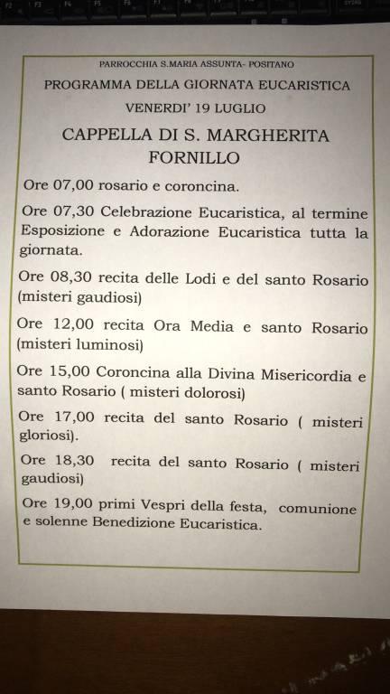 Positano il quartiere di Fornillo festeggia la sua patrona Santa Margherita V e M  protettrice delle donne in attesa e partorienti.