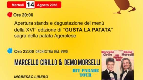 """Agerola:  14 agosto,  si apre """"Gusta la patata"""" sagra della patata agerolese,   MENU E PROGRAMMA"""