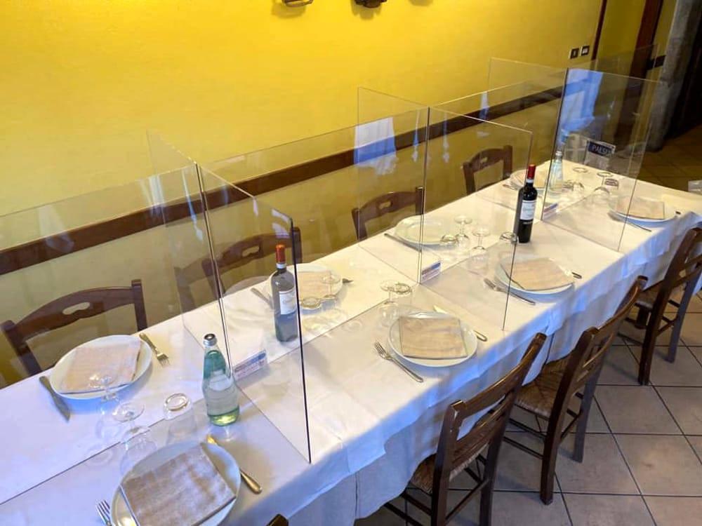 plexiglass ristoranti