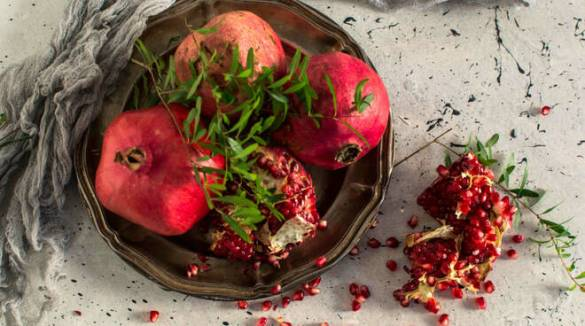 Menta e melagrana dell'Oasi in Città per un piatto persiano veramente gustoso.