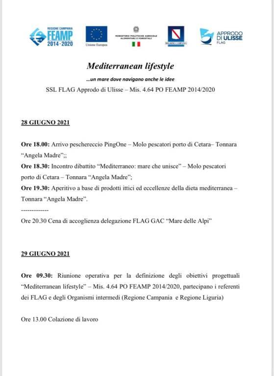 """Cetara, parte il progetto """"MediterraneanLifestyle: un mare dove navigano anche le idee"""""""