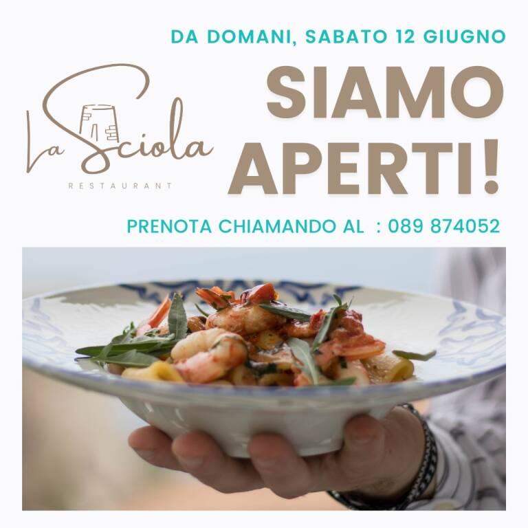 Praiano: ufficialmente aperto il ristorante La Sciola